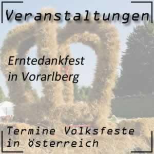 Erntedankfest Vorarlberg