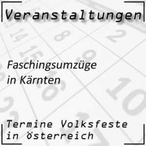 Faschingsumzüge in Kärnten