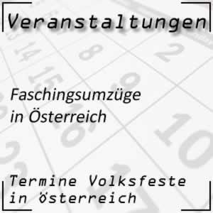 Faschingsumzüge in Österreich