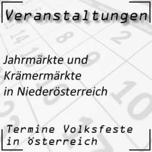 Jahrmärkte in Niederösterreich