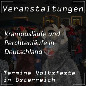Perchtenlauf und Krampuslauf in Deutschland