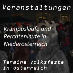 Perchtenlauf und Krampuslauf in Niederösterreich
