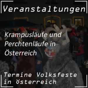 Perchtenläufe und Krampusläufe in Österreich