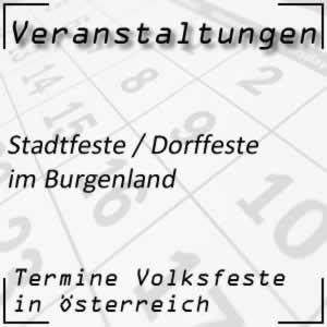 Stadtfeste / Dorffeste im Burgenland