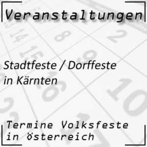 Stadtfeste / Dorffeste in Kärnten
