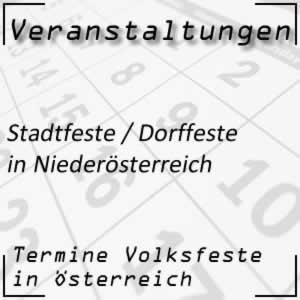 Stadtfeste / Dorffeste in Niederösterreich