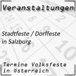 Stadtfeste / Dorffeste in Salzburg