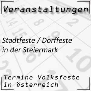 Stadtfeste / Dorffeste in der Steiermark
