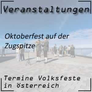 Volksfest Oktoberfest auf der Zugspitze