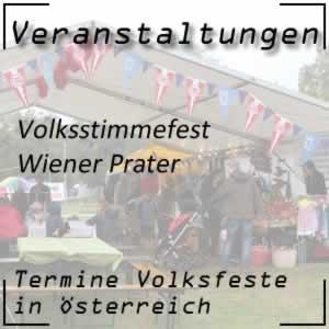 Volksstimmefest im Wiener Prater