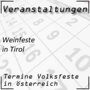 Weinfeste in Tirol