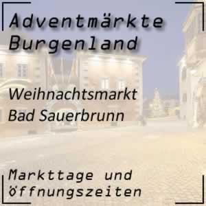Adventmarkt Bad Sauerbrunn Christbaumdorf