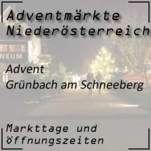 Adventmarkt Grünbach am Schneeberg