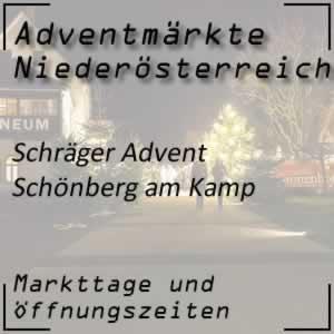 Schräger Advent Schönberg am Kamp