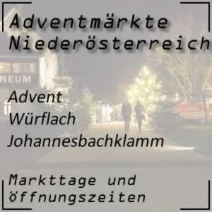 Adventmarkt Würflach Johannesbachklamm