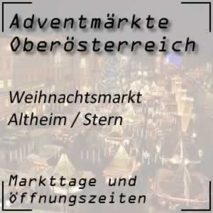Adventmarkt Stern bei Altheim