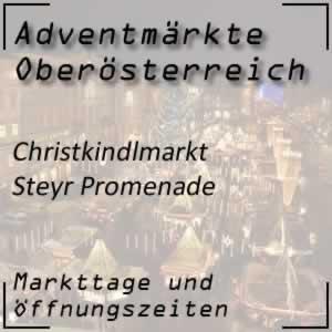 Christkindlmarkt Steyr Promenade