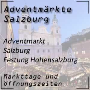 Adventmarkt Salzburg Festung Hohensalzburg