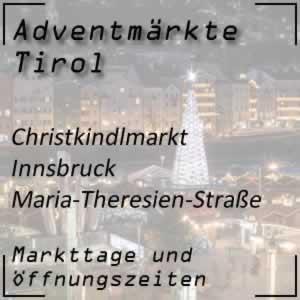 Christkindlmarkt Innsbruck Maria-Theresien-Straße