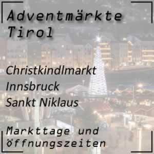 Christkindlmarkt Innsbruck Sankt Niklaus