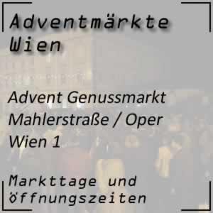 Advent Genussmarkt Mahlerstraße Oper Wien