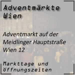 Adventmarkt Meidlinger Hauptstraße Wien