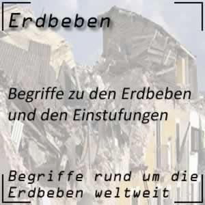 Erdbeben Begriffe