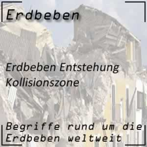 Erdbeben Kollisionszone
