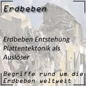 Erdbeben Ursachen Plattentektonik