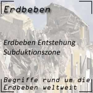 Erdbeben Subduktionszone