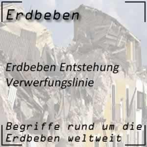Erdbeben Verwerfungslinie