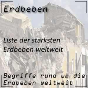Stärkste Erdbeben weltweit
