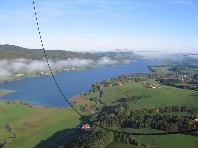 Irrsee oder Zellersee beim Mondsee in Oberösterreich