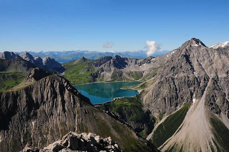 Lünersee Bergsee in Vorarlberg