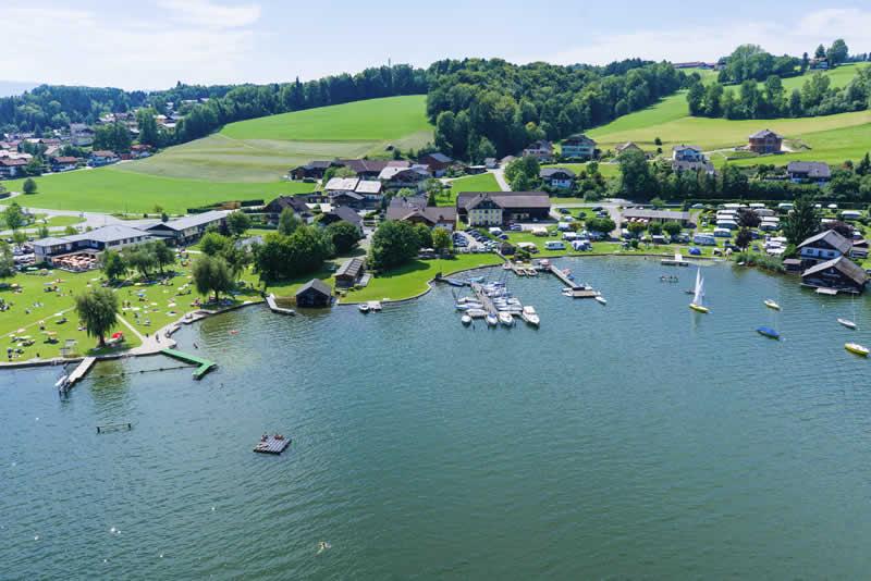 Obertrumer See im Salzburger Seenland