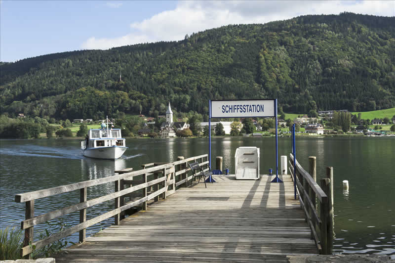 Ossiacher See bei Villach in Kärnten
