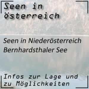 Bernhardsthaler See im Norden von Niederösterreich