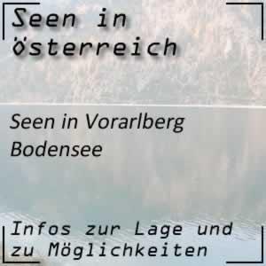 Bodensee in Vorarlberg, Deutschland und Schweiz