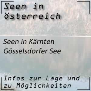 Gösselsdorfer See beim Klopeiner See in Kärnten