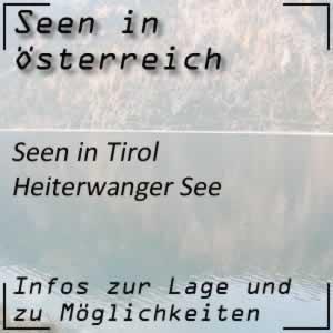 Heiterwanger See im Außerfern Tirol
