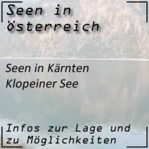 Klopeiner See in Kärnten