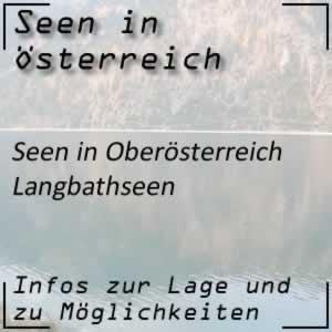 Langbathseen beim Höllengebirge Oberösterreich