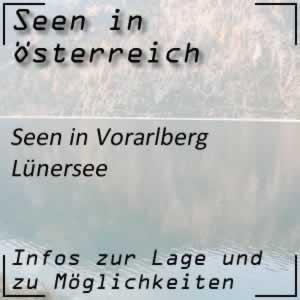 Lünersee bei Bludenz Vorarlberg