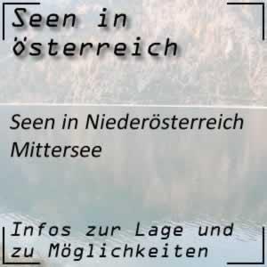 Mittersee beim Lunzer See Niederösterreich