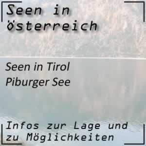 Piburger See bei Ötz in Tirol