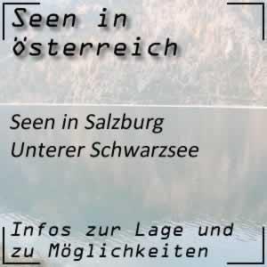 Unterer Schwarzsee Bergsee im Lungau