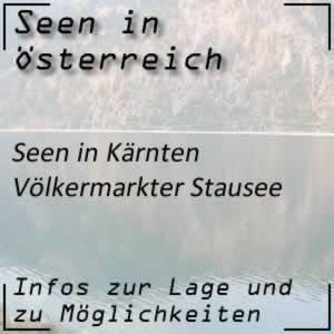 Völkermarkter Stausee in Kärnten