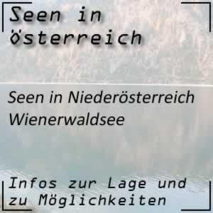 Wienerwaldsee westlich von Wien in Niederösterreich