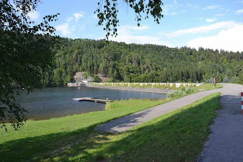 Thurnberger Stausee im Kamptal in Niederösterreich