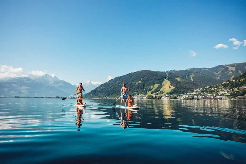 Zeller See bei Zell am See in Salzburg